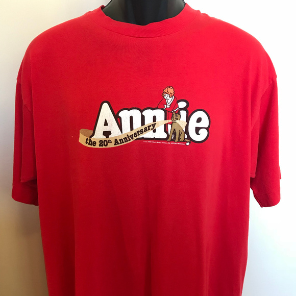 Vintage Other - 90s Annie 20th Anniversary Shirt Broadway NYC